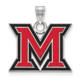 Miami University Large Enamel Pendant MPN: SS017MU by LogoArt
