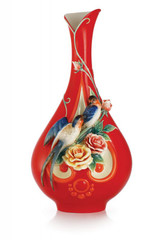 Franz Porcelain Spring Pleasure Swallows Vase Limited Edition 1688 FZ03035