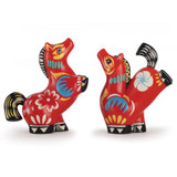 Franz Porcelain Steeds Sweeping Far and Wide Design Sculptured Porcelain Salt and Pepper Shakers FZ03182