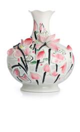 Franz Porcelain Sun Reflection In Lotus Pond Vase Limited Edition 588 FZ02835