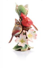 Franz Porcelain Tender Affection Cardinals and Dogwood Small Vase FZ02934