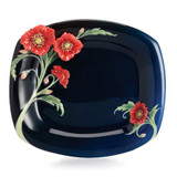 Franz Porcelain The Serenity Poppy Flower Dessert Plate FZ02514