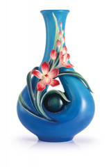 Franz Porcelain Treasure Of Charms Orchid Mid Size Vase FZ02963