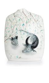 Franz Porcelain Water Buffalos Vase Limited Edition 588 FZ02828