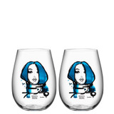 Kosta Boda All About You Tumbler 2 Pack Miss You Blue MPN: 7091530 Designed by Sara Woodrow