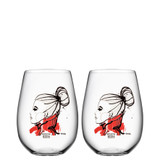 Kosta Boda All About You Tumbler 2 Pack Want You Red MPN: 7091531 Designed by Sara Woodrow