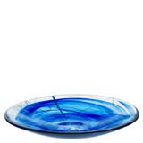 Kosta Boda Contrast Platter Blue MPN: 7070611 Designed by Anna Ehrner