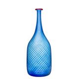 Kosta Boda Red Rim Bottle Blue MPN: 7041504 Designed by Bertil Vallien