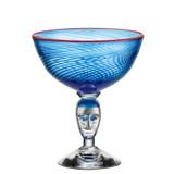 Kosta Boda Red Rim Brains Footed Bowl Blue MPN: 7091535 Designed by Bertil Vallien