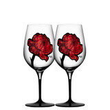 Kosta Boda Tattoo Wine Glass Glass Pair MPN: 7091122 Designed by Ludvig Lofgren