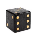 L'Objet Dice Decorative Box Crocodile Black, MPN: G130