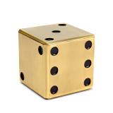 L'Objet Dice Decorative Box Gold, MPN: G140