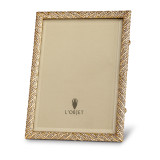 "L'Objet Deco Twist Pave 8 x 10"" Gold with White Crystals Picture Frame, MPN: F3205L"