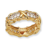 Size 5 Jackie Kennedy Vermeil Unity Ring MPN: CT111-5