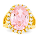 Size 10 Jackie Kennedy Vermeil Simulated Kunzite Ring MPN: CT128-10