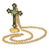 Jackie Kennedy Venetian Enameled Cross & Stand 23.5in Necklace MPN: CT239