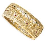 Jackie Kennedy Gold-plated Swarovski Crystal 7 inch Burmese Bangle MPN: CT428-7
