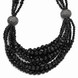Jackie Kennedy Black Bead 17.25 inch with 2 inch Extender Multi-strand Necklace MPN: CT459