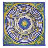 Jackie Kennedy Blue Zodiac Handmade Silk 35 Inch Fashion Scarf MPN: CT472