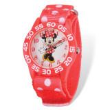 Disney Minnie Mouse Acrylic Case Red Velcro Time Teacher Watch MPN: XWA4951