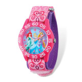 Disney Princesses Acrylic Pink Nylon Time Teacher Watch MPN: XWA5113