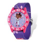 Disney Doc McStuffins Acrylic Purple Floral Time Teacher Watch MPN: XWA5122