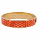 Halcyon Days Honeycomb Orange Gold 13mm Hinged Bangle HBHON0713G EAN: 5060171148401