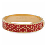 Halcyon Days Honeycomb Red Gold 13mm Hinged Bangle HBHON0613G EAN: 5060171148418