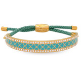 Halcyon Days Agama Sparkle Turquoise Gold 1cm Friendship Bangle FBAGS1410G EAN: 5060171153092