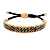 Halcyon Days Salamander Black Gold 1cm Friendship Bangle FBSAL0210G EAN: 5060171149637