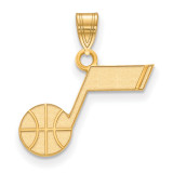 Utah Jazz Small Pendant 14k Yellow Gold 4Y002JAZ