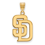 San Diego Padres Large Pendant in 14k Yellow Gold by LogoArt MPN: 4Y004PAD