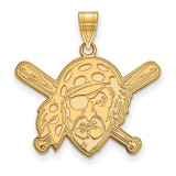 Pittsburgh Pirates Large Pendant in 14k Yellow Gold by LogoArt MPN: 4Y023PIR