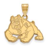 California State University Fresno Medium Pendant in Gold-plated Silver by LogoArt MPN: GP002CSF