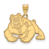 California State University Fresno Large Pendant in Gold-plated Silver by LogoArt MPN: GP003CSF