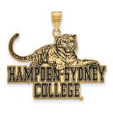 Hampden Sydney College x-Large Enamel Pendant in Gold-plated Silver by LogoArt MPN: GP003HSC