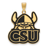 Cleveland State University x-Large Enamel Pendant in Gold-plated Silver by LogoArt MPN: GP004CLS
