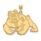 California State University Fresno x-Large Pendant in Gold-plated Silver by LogoArt MPN: GP004CSF
