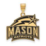 George Mason University Medium Enamel Pendant in Gold-plated Silver by LogoArt MPN: GP018GMU