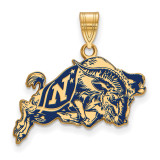 Navy Large Enamel Pendant in Gold-plated Silver by LogoArt MPN: GP033USN
