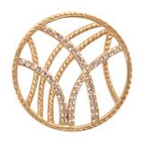 Nikki Lissoni Rebellious Stripes Gold-Plated 33mm Coin MPN: C1012GM EAN: 8718627460368