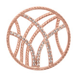 Nikki Lissoni Rebellious Stripes Rose Gold-Plated 33mm Coin MPN: C1012RGM EAN: 8718627460375