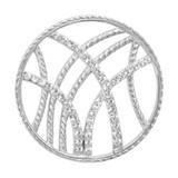 Nikki Lissoni Rebellious Stripes Silver-Plated 33mm Coin MPN: C1012SM EAN: 8718627460382