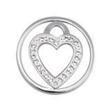 Nikki Lissoni Love Keeper Silver-Plated 23mm Coin MPN: C1039SS03 EAN: 8718627461174
