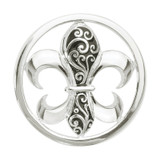 Nikki Lissoni French Curly Lily Silver-Plated 33mm Coin MPN: C1080SM EAN: 8718627462171