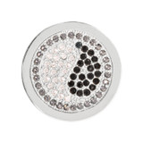 Nikki Lissoni Sparkling Yin Yang Silver-Plated 23mm Coin MPN: C1154SS EAN: 8718627463093