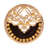 Nikki Lissoni Black Velvet Gold-Plated 33mm Coin MPN: C1159GM EAN: 8718627463147