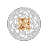 Nikki Lissoni Square Fantasy Silver Gold-Plated 23mm Coin MPN: C1205SS EAN: 8718627464656
