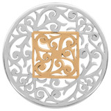 Nikki Lissoni Large Square Fantasy Silver Gold-Plated 43mm Coin MPN: C1206SL EAN: 8718627464663