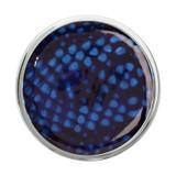 Nikki Lissoni Blue Snake Print Silver-Plated 33mm Coin MPN: C1216SM EAN: 8718627465462